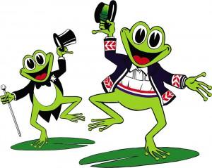 Škola folkora Gatalinka logo žabe